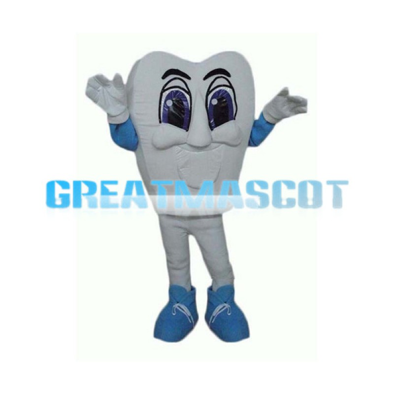 Cartoon Tooth Mascot Adult Costume