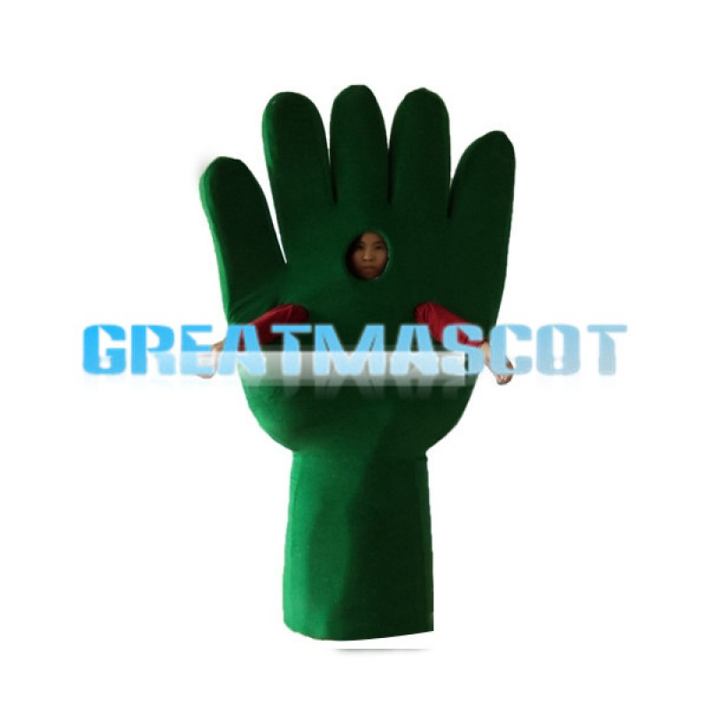Deluxe Green Hand Lightweight Mascot Costume For Adult
