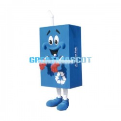 Cute Cartoon Blue Beverage Box Lightweight Mascot Costume