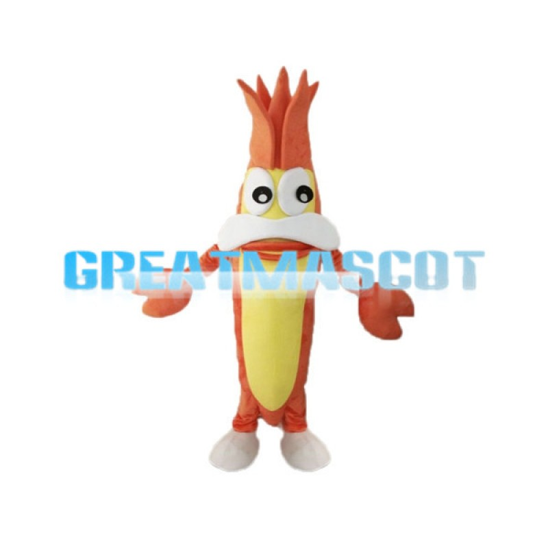 Cartoon Old Mantis Shrimp Cartoon Mascot Adult Costume