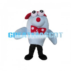 Cute Cartoon Blue Dolphin Mascot Adult Costume
