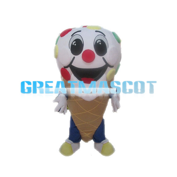 Deluxe Cartoon Ice Cream Cone Mascot Adult Costume