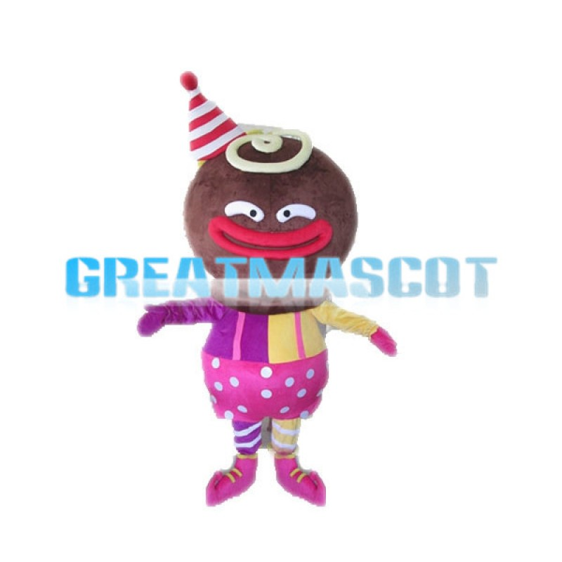 Clown Gingerbread Man Mascot Costume