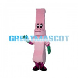 Cute Cartoon Pink Chimney Mascot Adult Costume