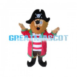 Friendly Cartoon One-eyed Pirate Mascot Adult Costume