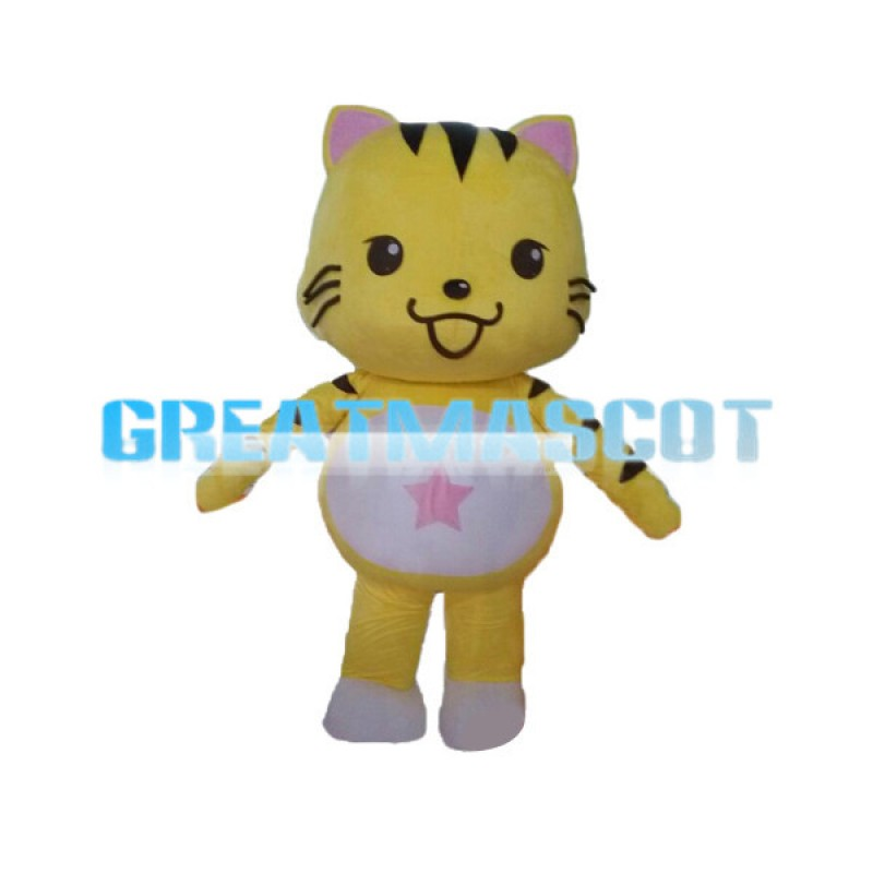 Adventurous Star Cat Mascot Adult Costume