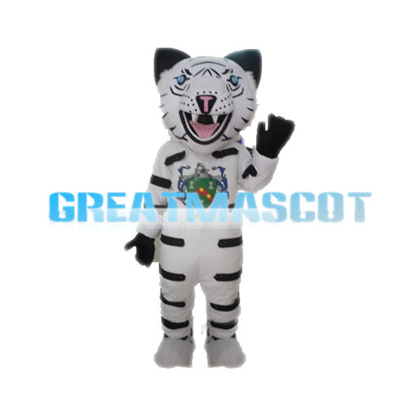 Howling White Tiger Mascot Adult Costume