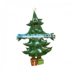 Deluxe Cartoon Christmas Tree Lightweight Mascot Adult Costume