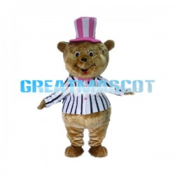 Adult plush Naughty Brown Bear Mascot  Animal Fancy Dress Costume