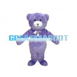 Popular Purple Teddy Bear Mascot Adult Costume
