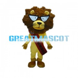 Advertising Cartoon Yellow Lion Mascot Costume