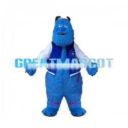 Adult Plush Purple Monster Mascot Costume