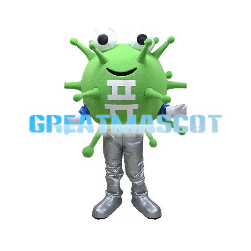 Adult Cartoon Korean Green Virus Mascot Costume