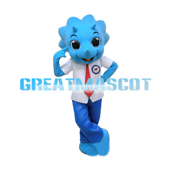 Student  Blue Triceratops Mascot Adult Costume