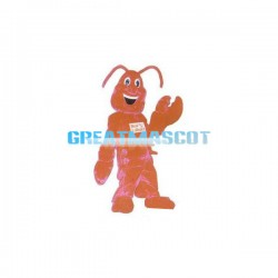 Smiling Lobster Cartoon Mascot Adult Costume