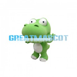 Green Crocodile With Big Head Cartoon Mascot Adult Costume