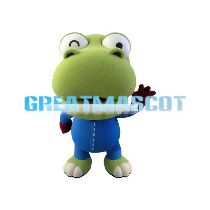 2nd Version of Crong the Little Spinosaurus Mascot Adult Costume