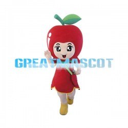 Lovely Apple Girl Cartoon Mascot Adult Costume