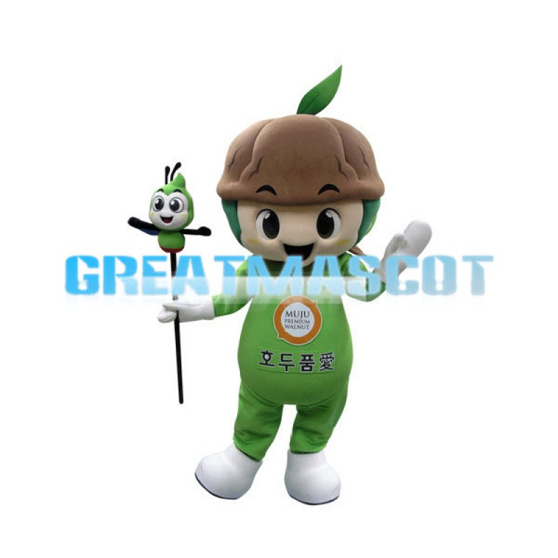 Green Plant Boy With Soil Mascot Costume