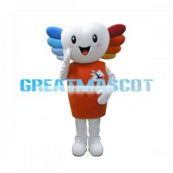 Colored Hair Snowman Mascot Adult Costume
