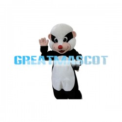 Adult Black & white Rat With Red Nose Mascot Costume