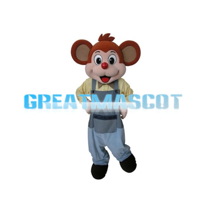 Cute Cartoon Red Little Monkey Mascot Adult Costume