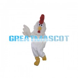 Adult  White Rooster Mascot Costume