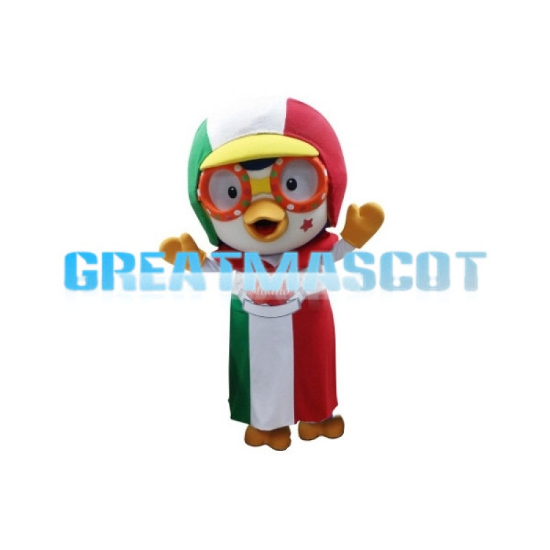 Adventurous Pororo the Little Penguin Mascot Adult Costume