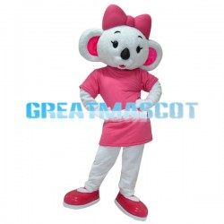 Adult White Koala Cartoon Mascot Costume