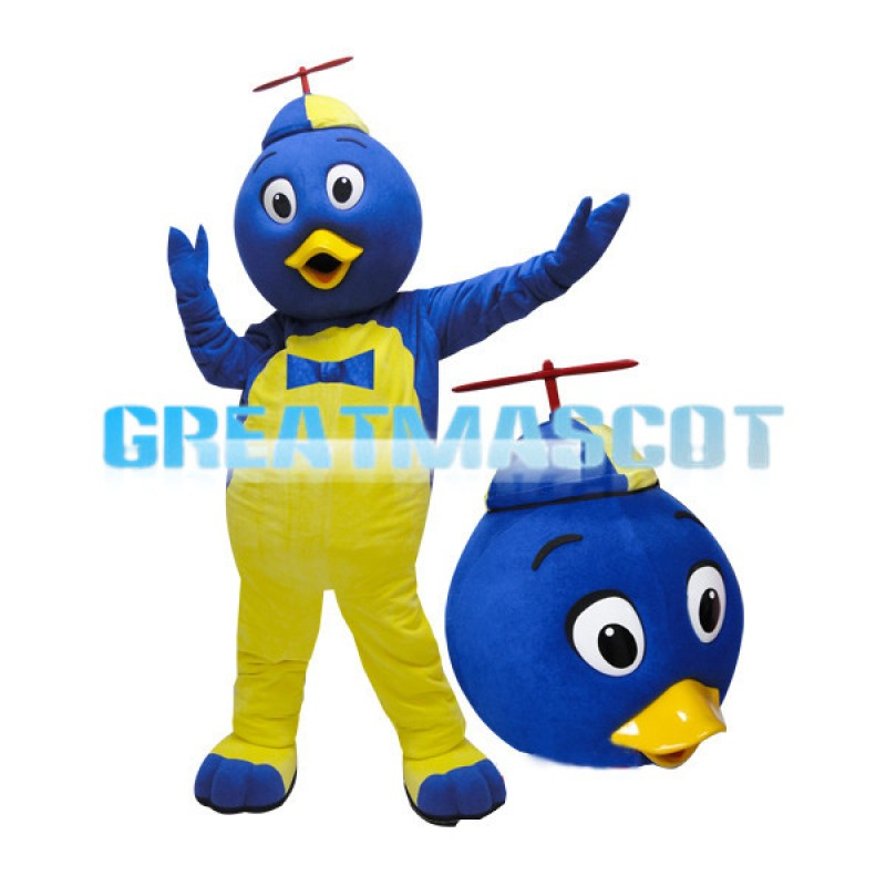 Adult Blue Head Duck Cartoon Mascot Costume
