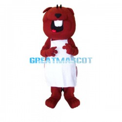 Lovely Cartoon Red Marmot Mascot Adult Costume
