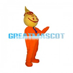Yellow Water Drop Cartoon Mascot Adult Costume