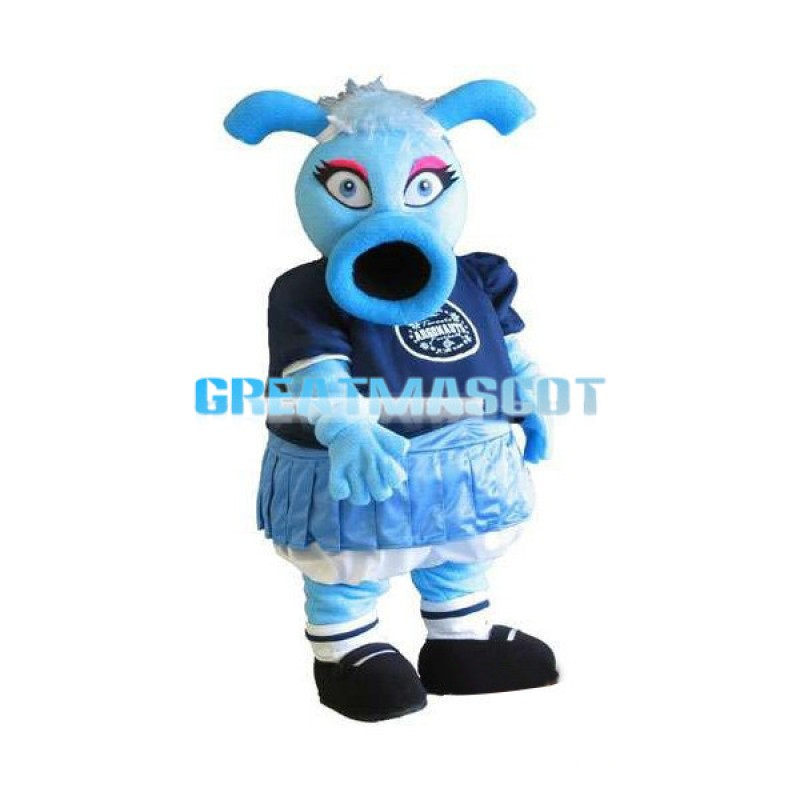 Blue O-shaped Mouth Monster Mascot Adult Costume