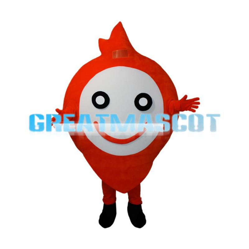 Cartoon Red Positioning Sign Mascot Adult Costume