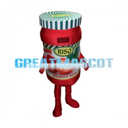 Strawberry Jam Bottle Mascot Adult Costume