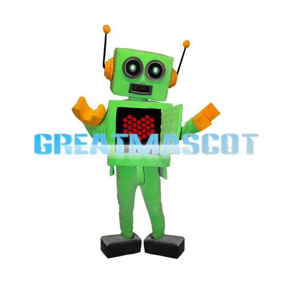 Green Robot Mascot Adult Costume