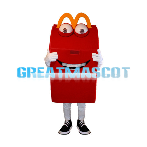 Cartoon Red Box Mascot Adult Costume