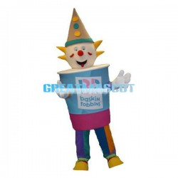Cartoon Clown Ice Cream Mascot Adult Costume
