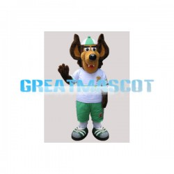 Smiling Brown Dog With Big Ears Mascot Adult Costume
