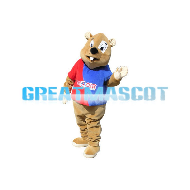 Brown Mouse Mascot Adult Costume