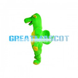 Green & Yellow Flying Dinosaur Mascot Adult Costume