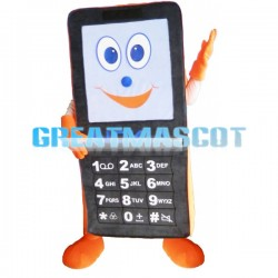 Giant Black Mobile Phone Mascot Adult Costume