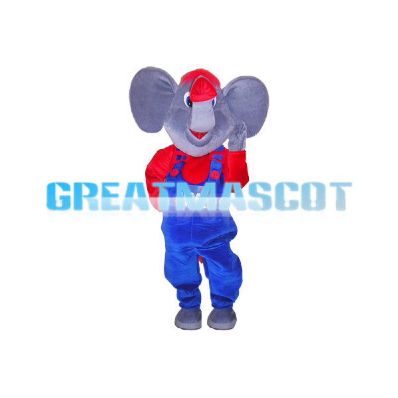 Adult Size Elephant Mascot Animal Fancy Dress Costume