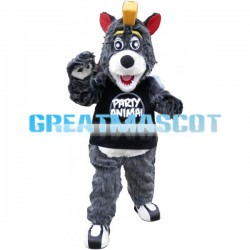 Adult Plush Gray Bear Mascot Adult Costume