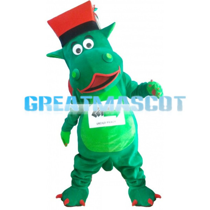 Advertising Green Dragon Mascot Costume