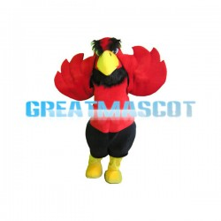 Adult Plush Red & Black Eagle Mascot Costume