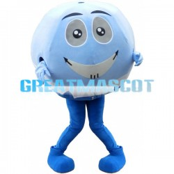 Blue Ball Cartoon Mascot Adult Costume