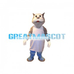 Brown Cat Mascot Adult Costume