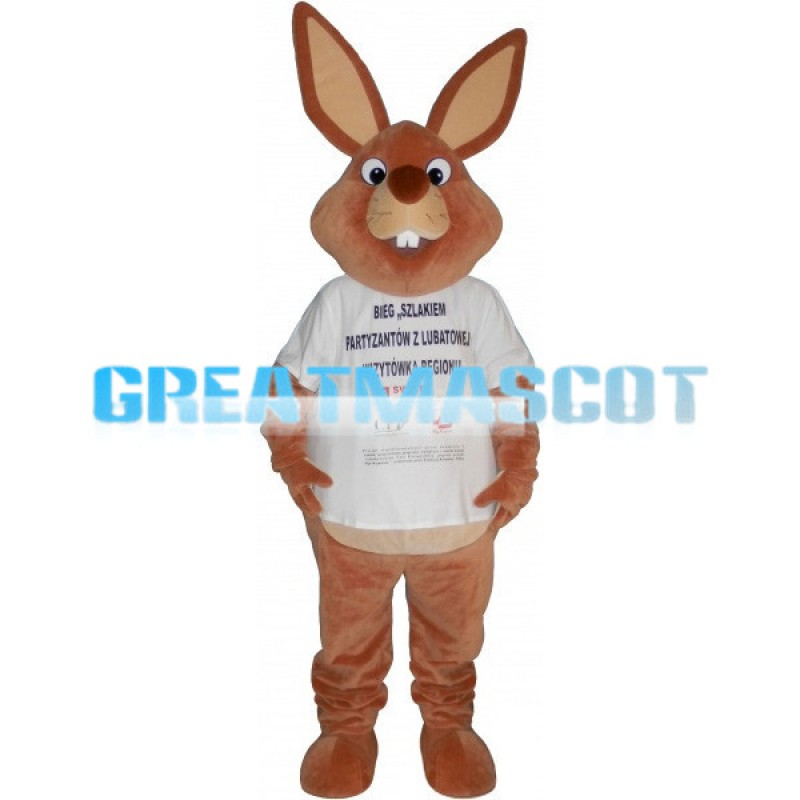 Adult Size Brown Rabbit Mascot Costume