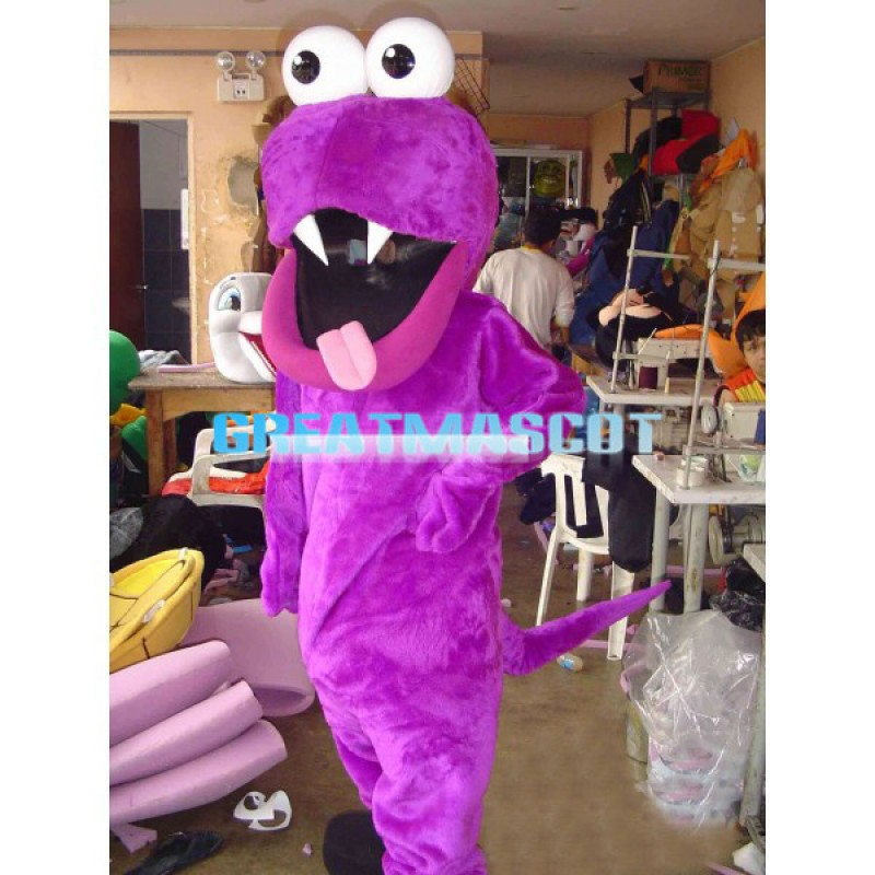 Adult Purple Monster With Big Mouth Mascot Costume
